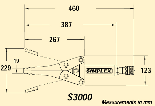 Simplex S3000 Hydraulic Spreader / Wedge - Specialised Force